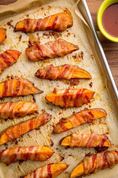 Bacon Wrapped Sweet Potato Fries may just ruin regular fries for you, forever.