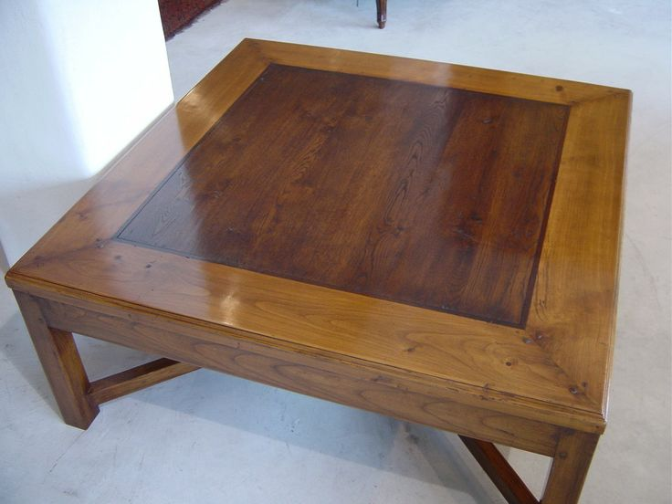 Beaumont Coffee Table - Top View - Cherry Wood Frame - French Oak Centre