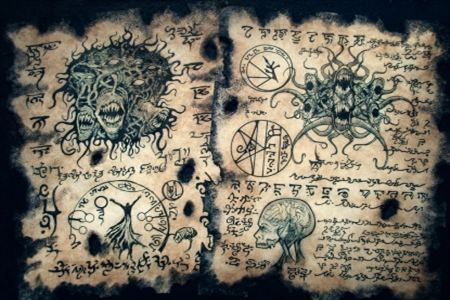 The 9 Most Eerie Books and Grimoires Of All Time (old books, grimoires, black magic, occult, necronomicon, spells, creepy) - ODDEE