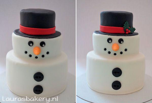 Sneeuwpop Taart - Laura's Bakery