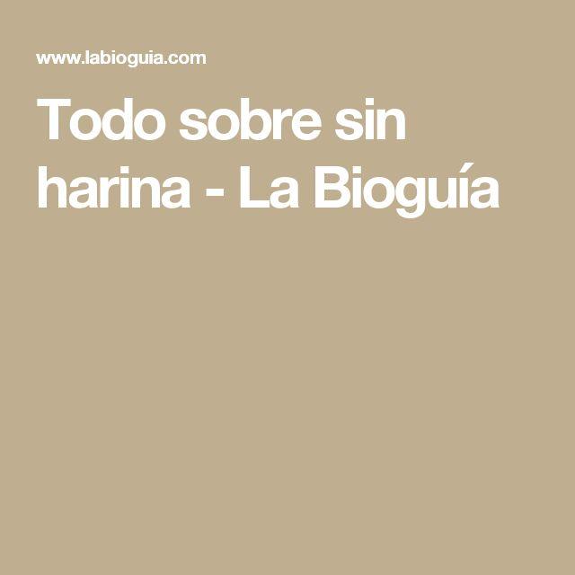 Todo sobre sin harina - La Bioguía