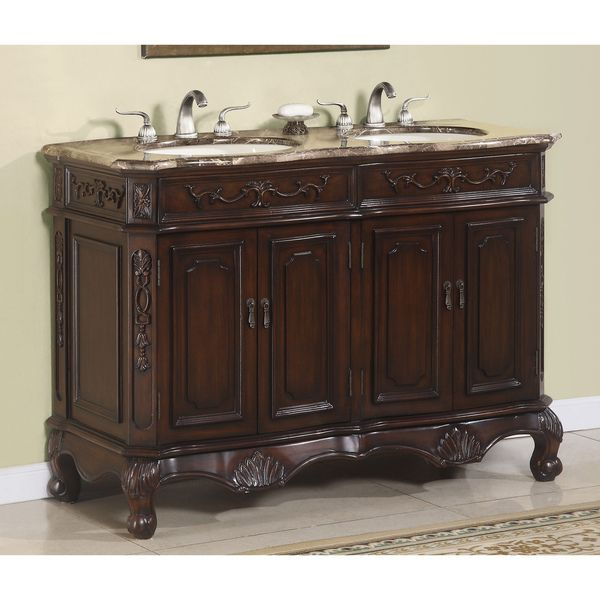 ICA Furniture Hestia 50-inch Marble-top Double Vanity