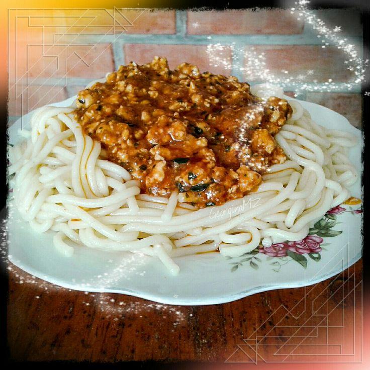 Espagueti #Spaghetti #foodpics 🍝🍅 http://georginamz.com/106/13126/Espagueti_Spaghetti.html