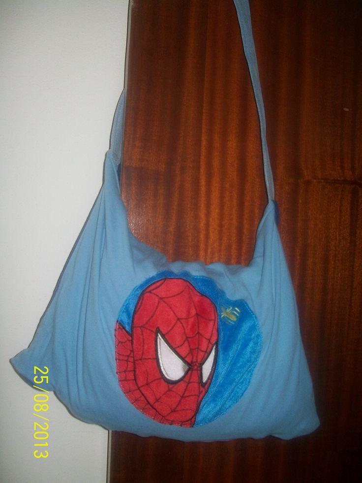 T-shirt man en kinderpoef Spiderman worden zwemzak