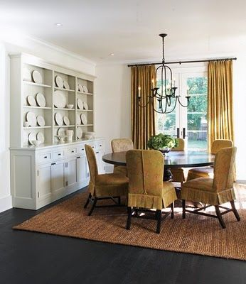Love The Slipcovers Look Like A Nubby Linen Or Raw Silk Maybe Round Dining Room TablesDining ChairsDinning