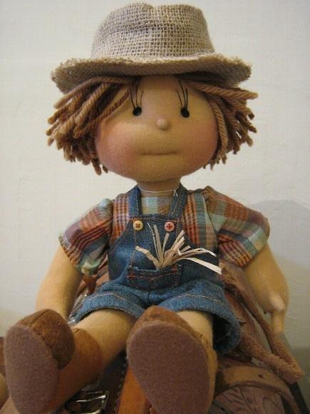 Cute boy doll.
