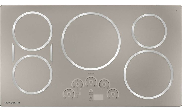 "GE Monogram ZHU36RSJSS 36"" Electric Cooktop 
