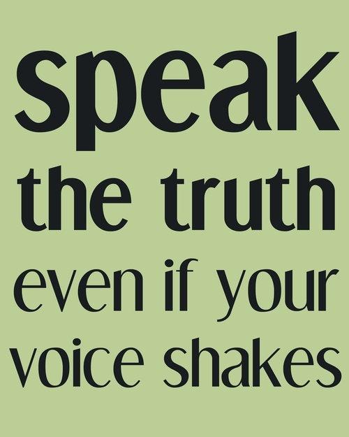 Socratess believe on speaking the truth