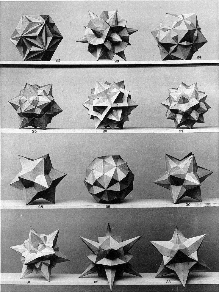 "floresenelatico: ""Max Bruckner. 1906 polyhedra & icosahedron models. """