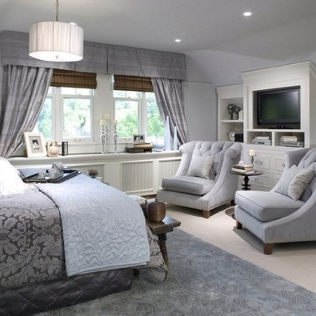 Gorgeous Gray And White Bedrooms: Beautiful Grey Master Bedroom