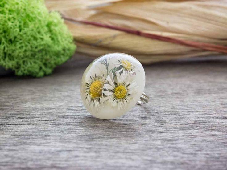 Százszorszépek műgyanta gyűrű