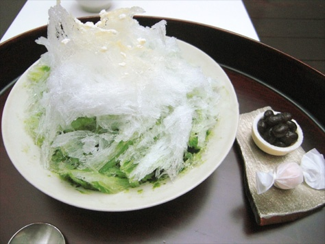 東京:銀座「うおがし銘茶 茶・銀座」/抹茶かき氷