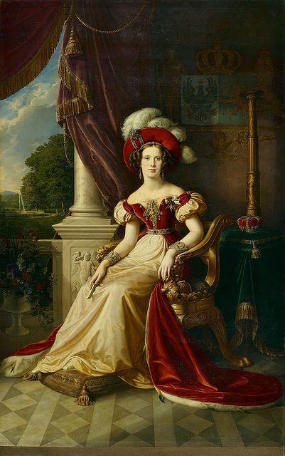 Princess Marianne of Prussia (1810-1883), neé Princess of the Netherlands, Princess of Orange-Nassau   Karl Wilhelm Wach (1832)