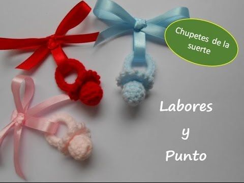 Como tejer un chupete de decoración a ganchillo o crochet - YouTube