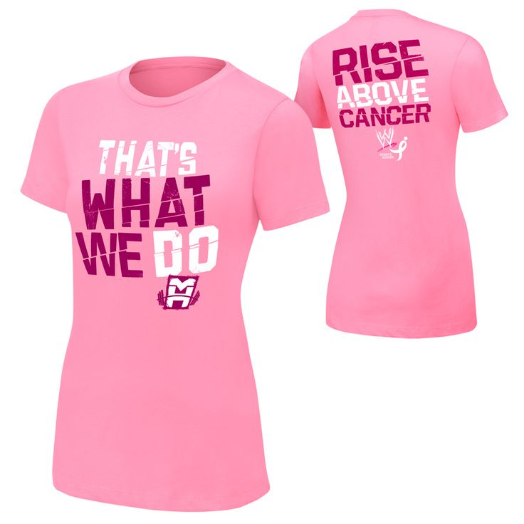 """Mark Henry """"Rise Above Cancer"""" Pink Women's Authentic T-Shirt #WWE"""