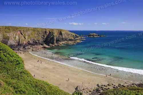 Caerfai Bay St Davids Pembrokeshire Wales