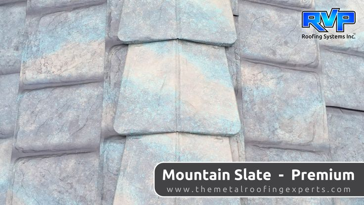 The newest colour to choose from, and has quickly become the most popular.  Mountain Slate lives up to its name, capturing all the subtle shades and tones of natural slate.  Visit us at www.rvp-roofing.com for more ideas.  Don't forget to pin!  #rvp #highstrengthsteel #permanentroof #armadura #mountainslate