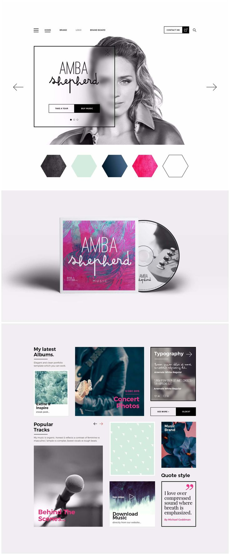 Amba Shepherd  Logo we designed for Amba Shepherd - who wanted her brand identity to reflect her unique kind of music. She also needed her logo to be simple to rea... http://83oranges.com/portfolio_page/amba-shepherd/