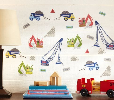 love these busy builder decal pottery barn kids