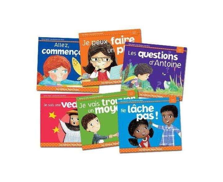Les livres de la série «Je crois en moi» aident les enfants à reconnaître et à développer des traits de caractère positifs. Contient les 6 titres suivants : Allez commençons, Je peux faire un plan, Les questions d'Antoine, Je suis une vedette, Je vais trouver un moyen, Ne lâche pas. 6 livres de 16 pages chacun.