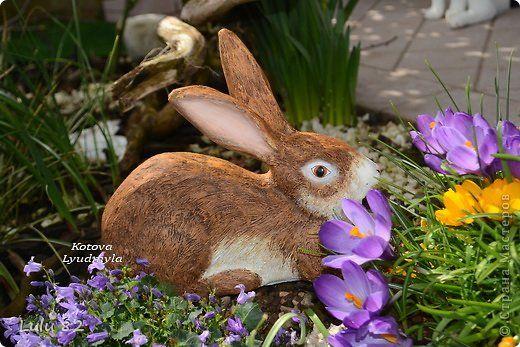 Скоро Пасха, во многих странах символом этого праздника является пасхальный заяц. Вот я и решила его сделать.  фото 1