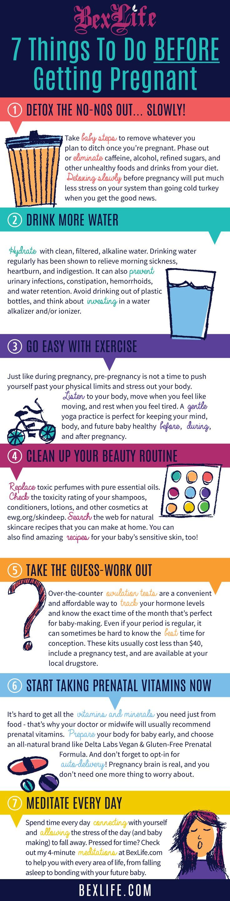 7 Things To Do Before Getting Pregnant! Great tips on how to prepare your body…