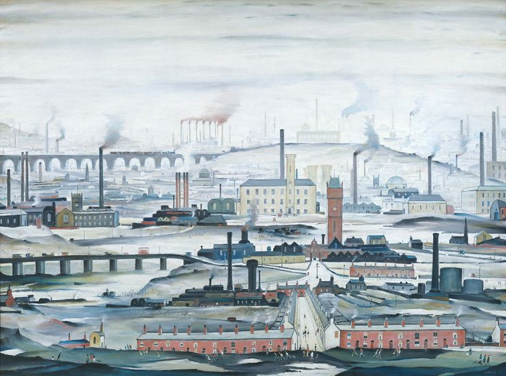 LS Lowry, Industrial Landscape, 1955 Tate. © The Estate of LS Lowry