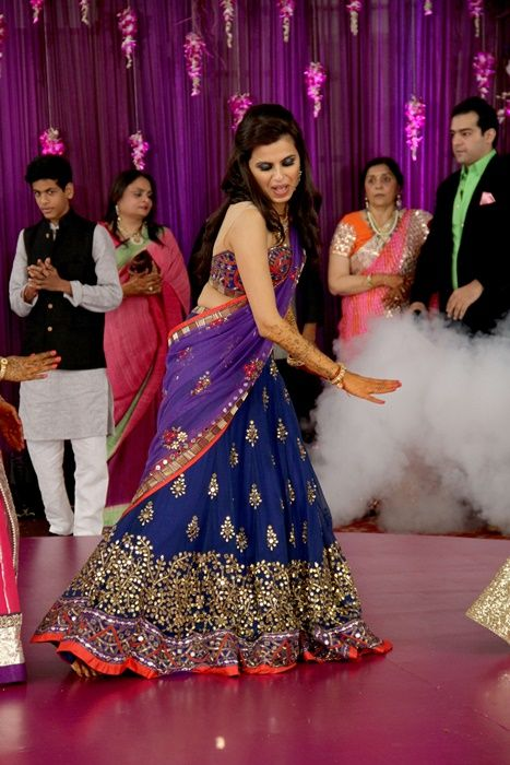 blue sangeet outfit