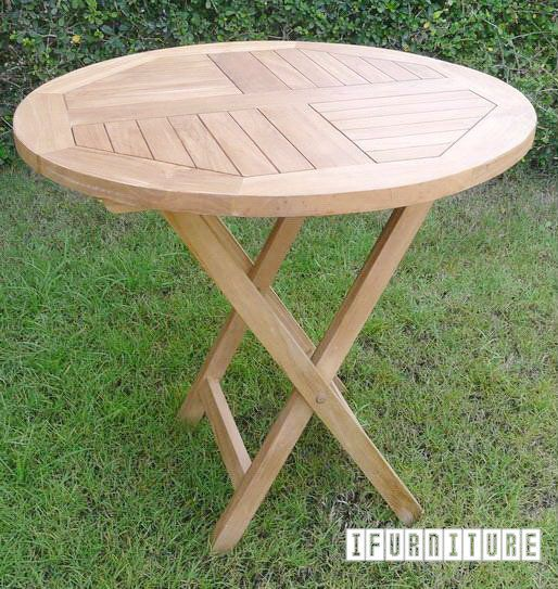 BALI Solid Teak D80 Round Table Model 122C , Outdoor, NZ's Largest Furniture…