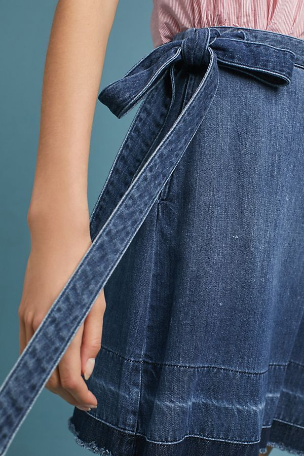 490d0850d Cloth & Stone Denim Wrap Skirt   Summer Vacation   Denim wrap skirt ...