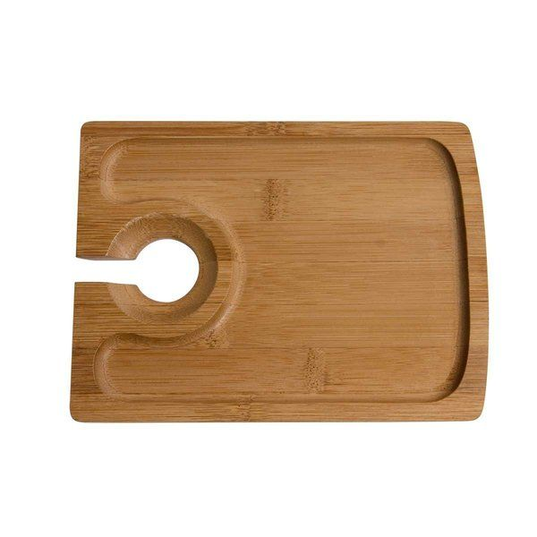 Oenophilia Bamboo Hors d' Oeuvres Plate - Set of 4