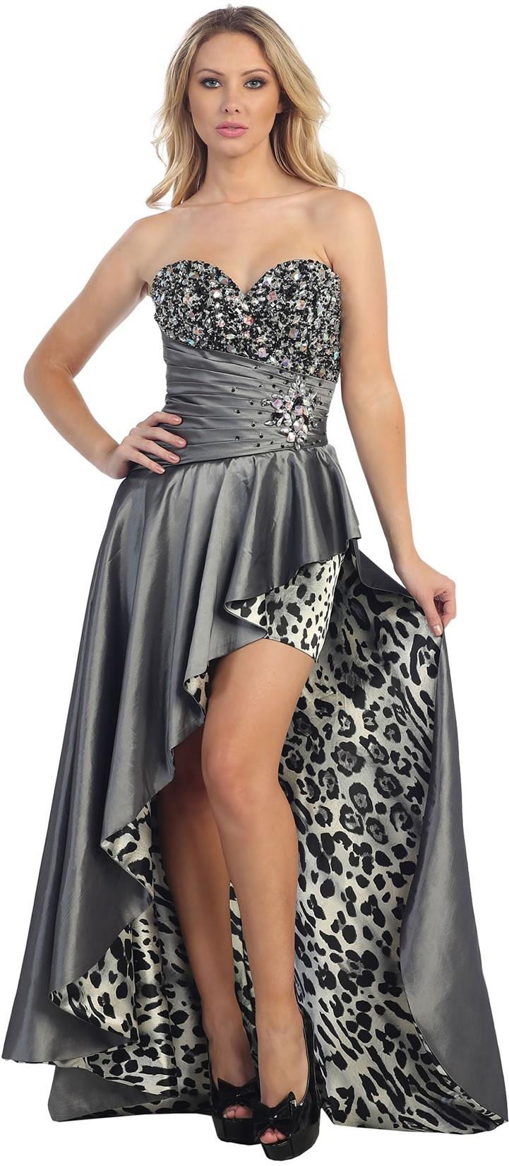 Plus Size Leopard Print Hi Low Dress Dress Images