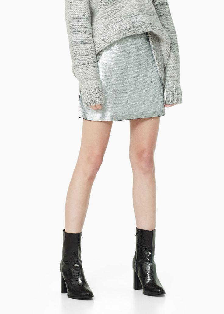 Jupe sequins réversibles - Jupes pour Femme | MANGO France
