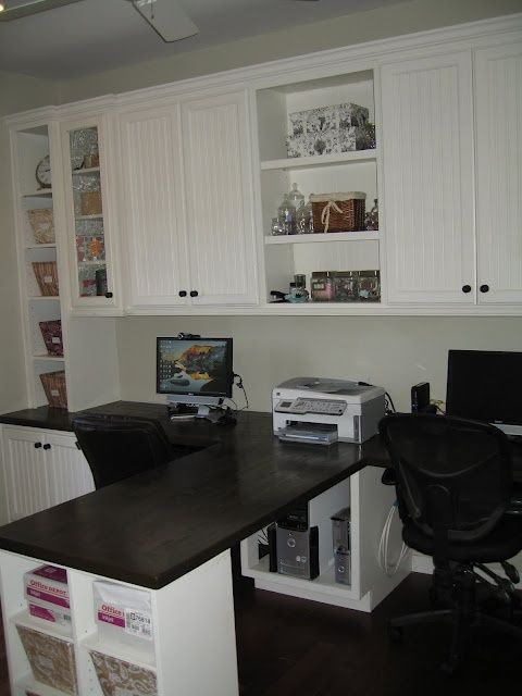 craft room ideas on a budget | Craft Room Ideas. Could use one side more for the office and the other for crafting