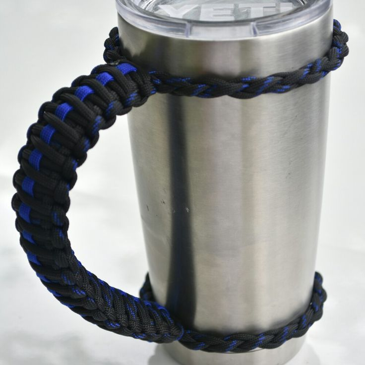 Yeti paracord handle cord tying pinterest paracord for Paracord koozie how to make