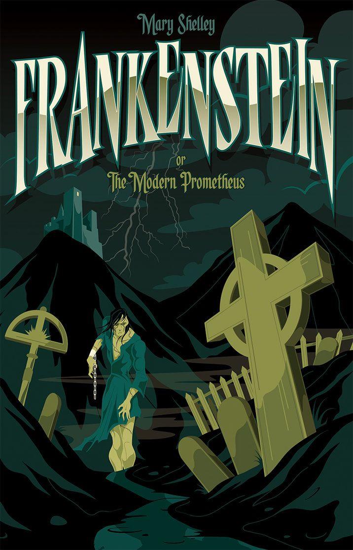 Frankenstein book cover by Mike Mahle on deviantART
