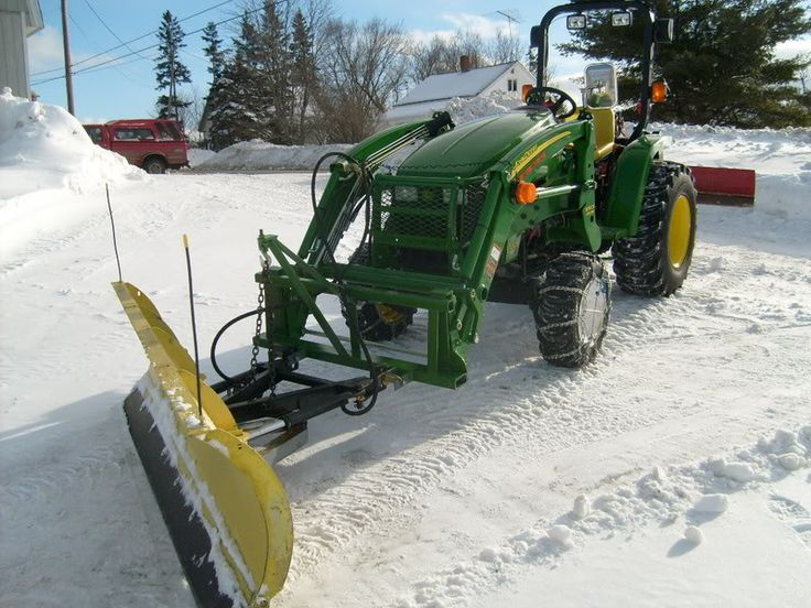 Front Mount Tractor Snow Plow : Best images about snowblowers on pinterest garage