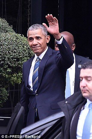 Former President Barack Obama (pictured) met with Mayor of Paris to discuss climate change...