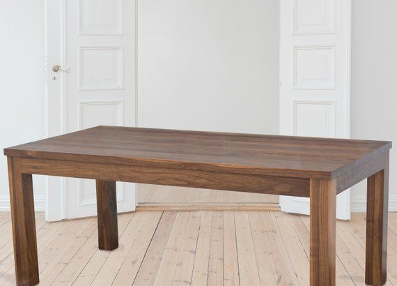 Wood Dining Table Rectangular Parsons Dining Table Walnut Wood
