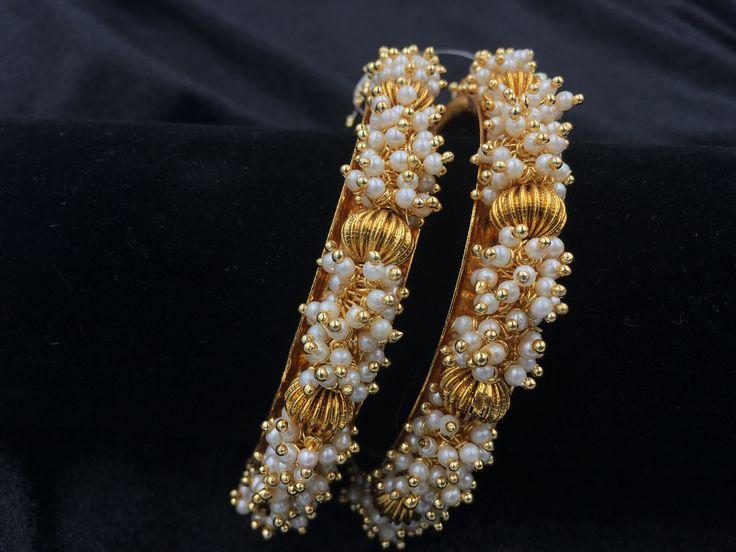 Moti and golden balls bangles