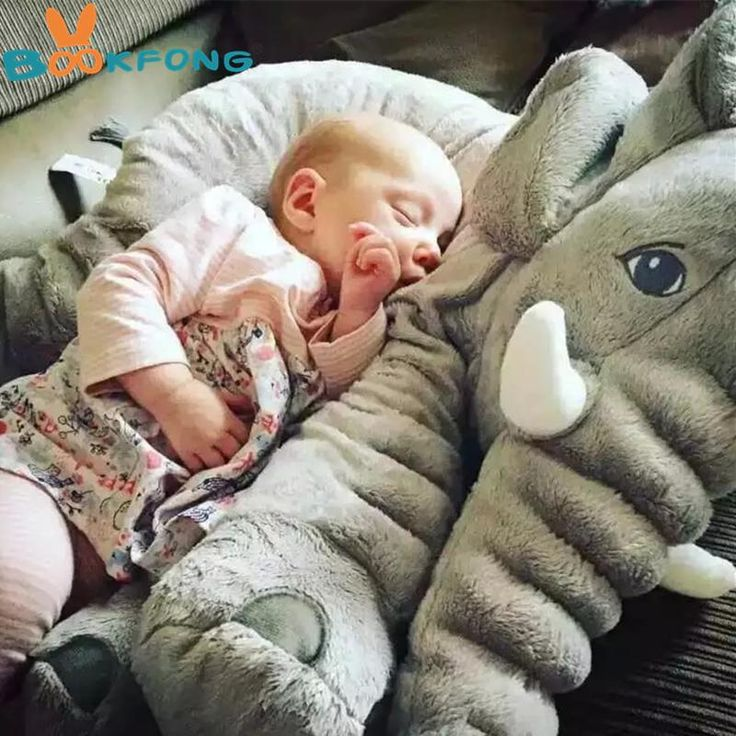 40/60cm Infant Soft Appease Elephant Playmate Pillow - NewBorn & Mom