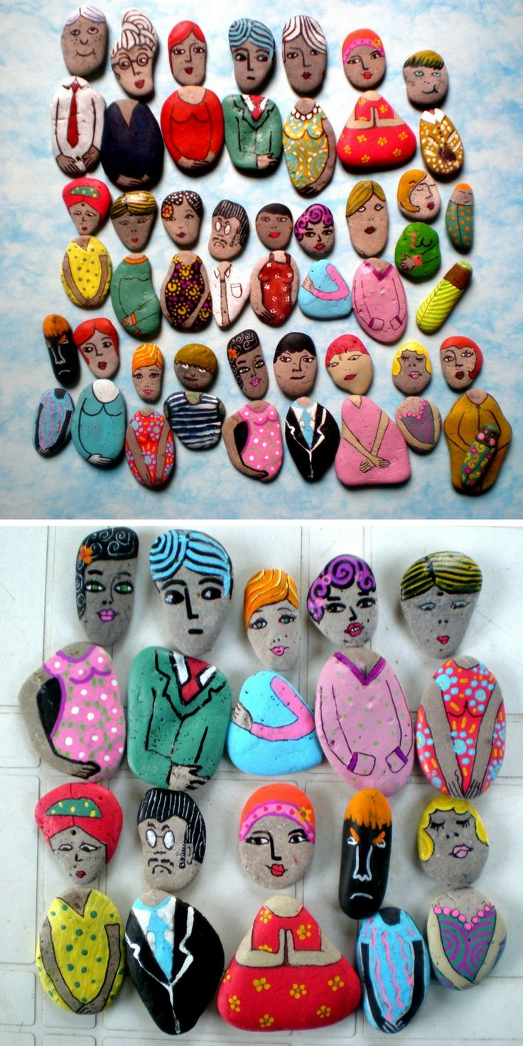 Rock people! What a fun art project for kids. Decorate your garden with your rock friends, or leave them as a surprise for strangers to find as a random act of kindness.