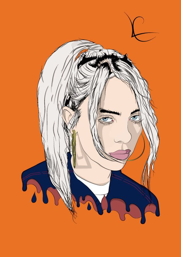 Billie Eilish Celebrity Drawings Billie Billie Eilish