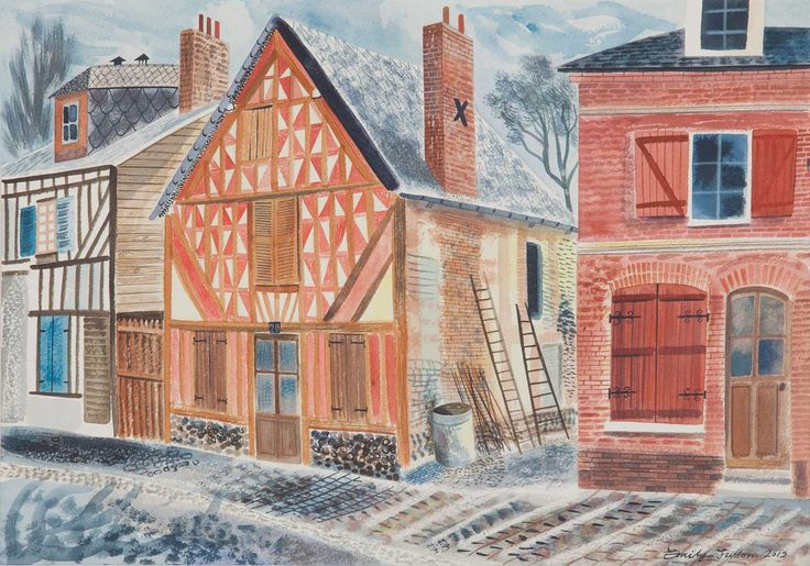 'Painted House, Normandy' by Emily Sutton (watercolour)
