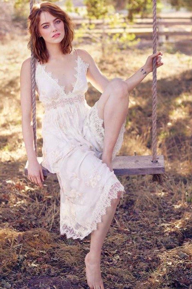 Emma Stone wearing  Zimmermann Tropicale Antique Jumpsuit