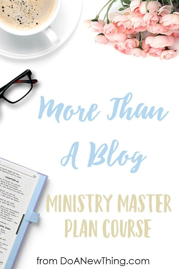 If you need clarity, focus and confidence in your Christian blog, ministry or business, join me for the More Than A Blog course!