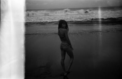 Rusty Spring 2015 behind the scenes, shot in Bali featuring Mimi Elashiry. #ourkind #bikini #blackandwhite