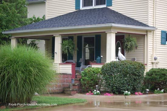 hip roof style over picturesque front porch