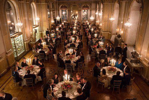 Kungaparet gav Sverigemiddag på Kungliga slottet -  Sveriges Kungahus  Foto: Jonas Ekströmer/Scanpix