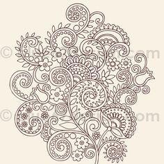 Henna Doodles Flower Vines Vector Tattoo Design by blue67design, via Flickr.